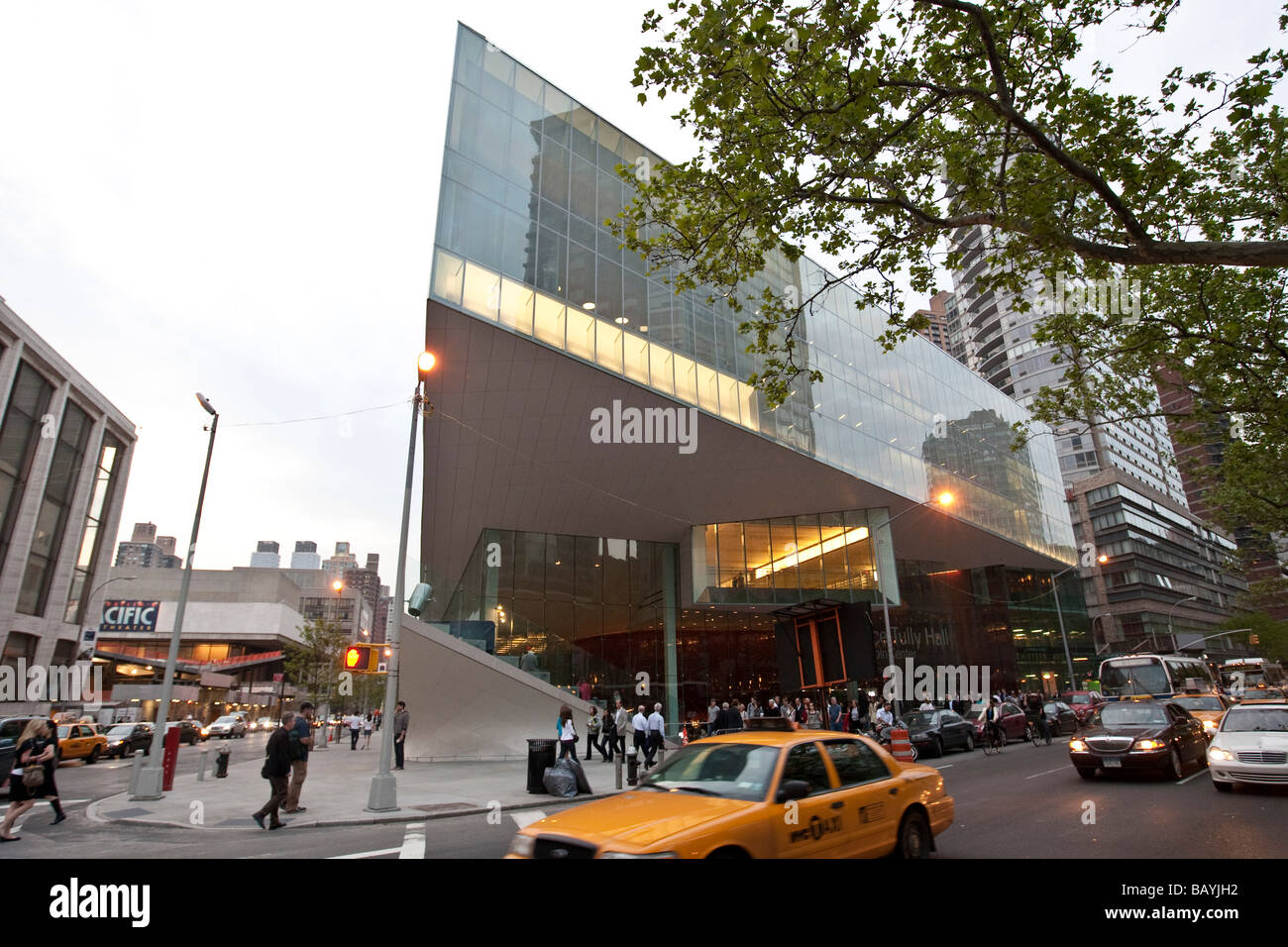 The renovated Alice Tully Hall at the Lincoln Center New York 8 May 2009 - Stock Image