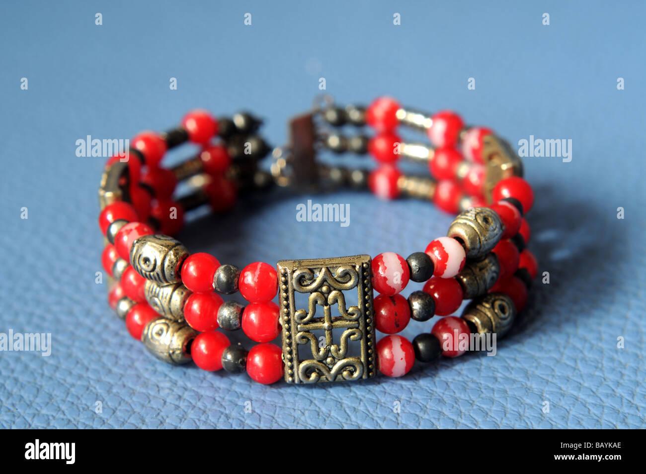 hilltribe jewellery bangkok thailand - Stock Image