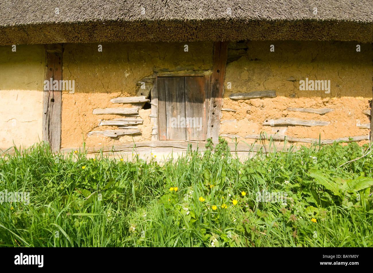 Wattle and Daub Barn Normandy France - Stock Image