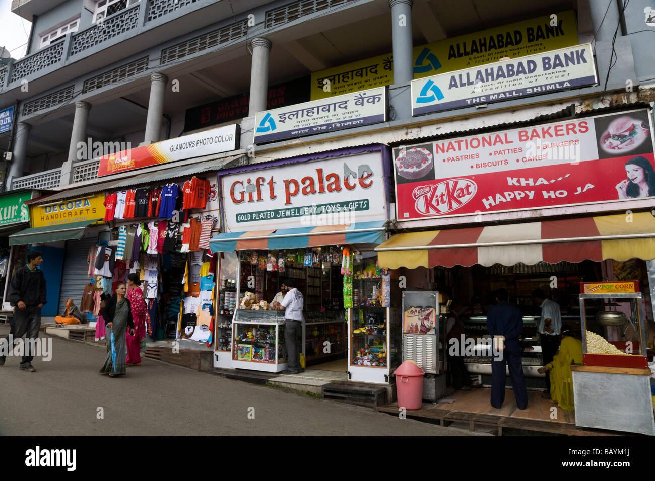 Tourist gift and souvenir shops in Shimla. Himachal Pradesh. India. - Stock Image