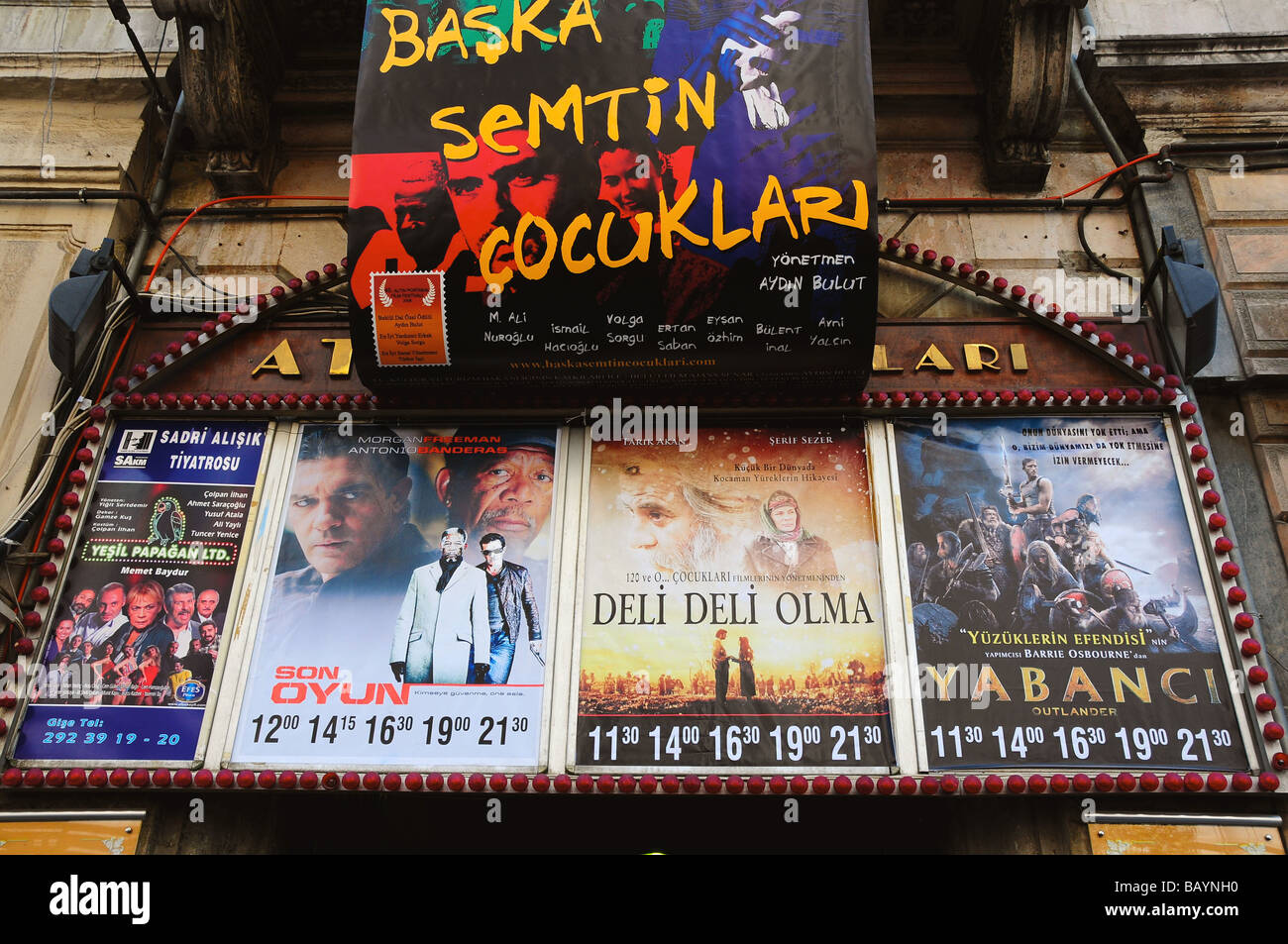 Cinema and posters, Istanbul, Turkey - Stock Image