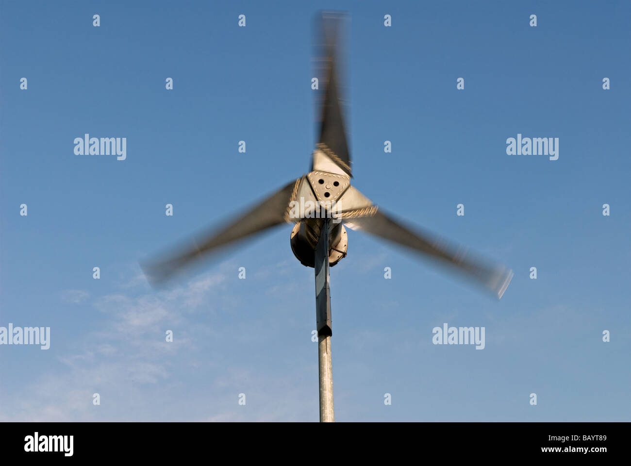 A 6KW wind turbine manufactured by Proven Energy, suppling Stock