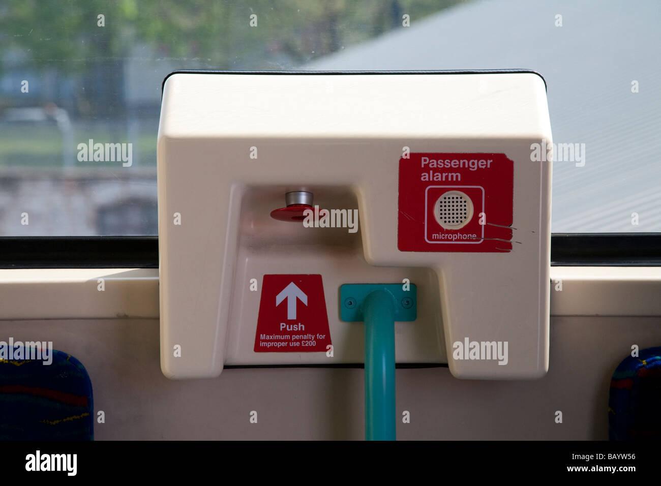 DLR Passenger Alarm London UK - Stock Image