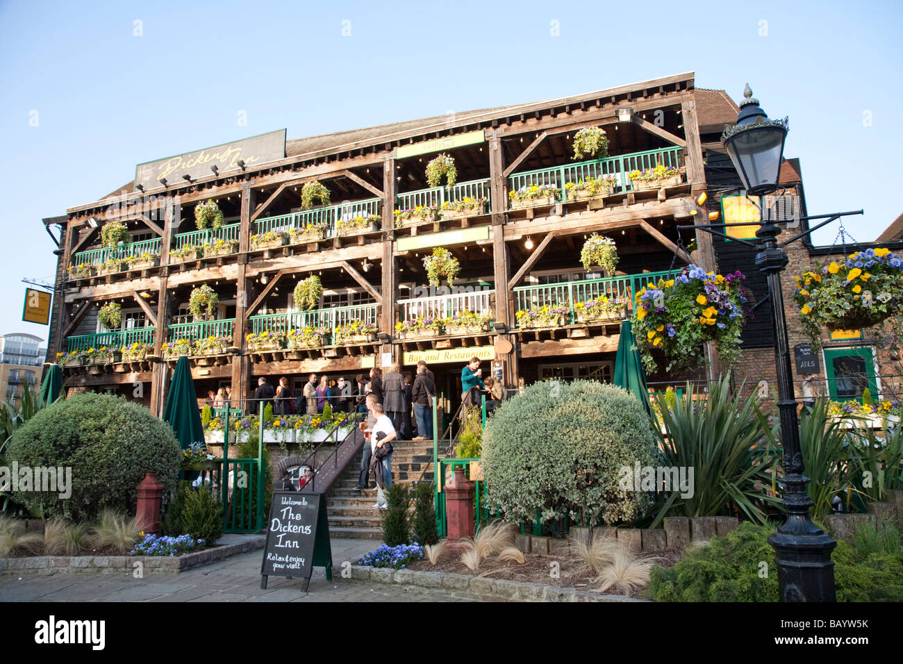 The Dickens Inn, Pub St Katharine Docks, London UK England - Stock Image