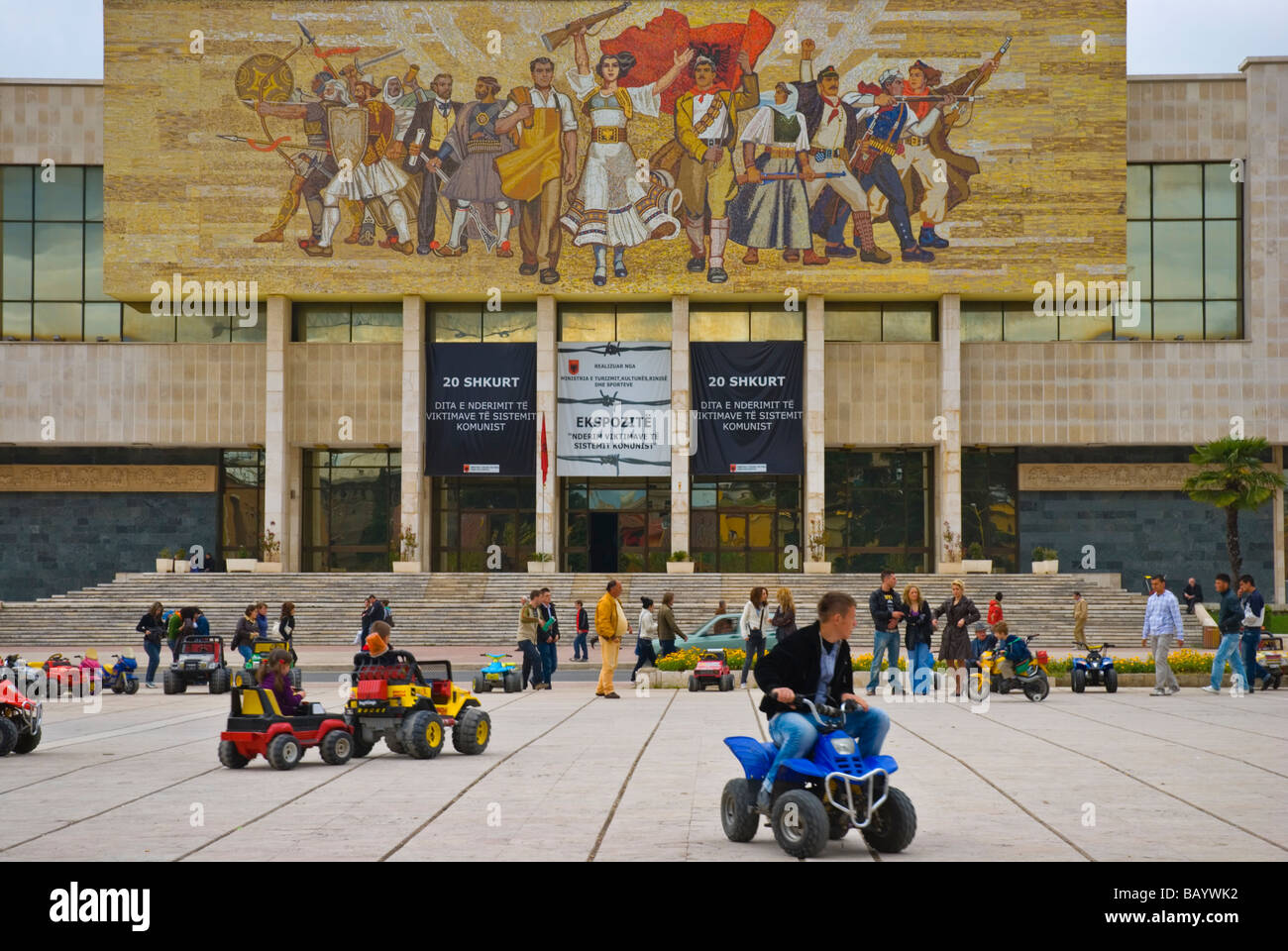 Go Kart Racing At Sheski Skenderbej Square In Tirana Albania
