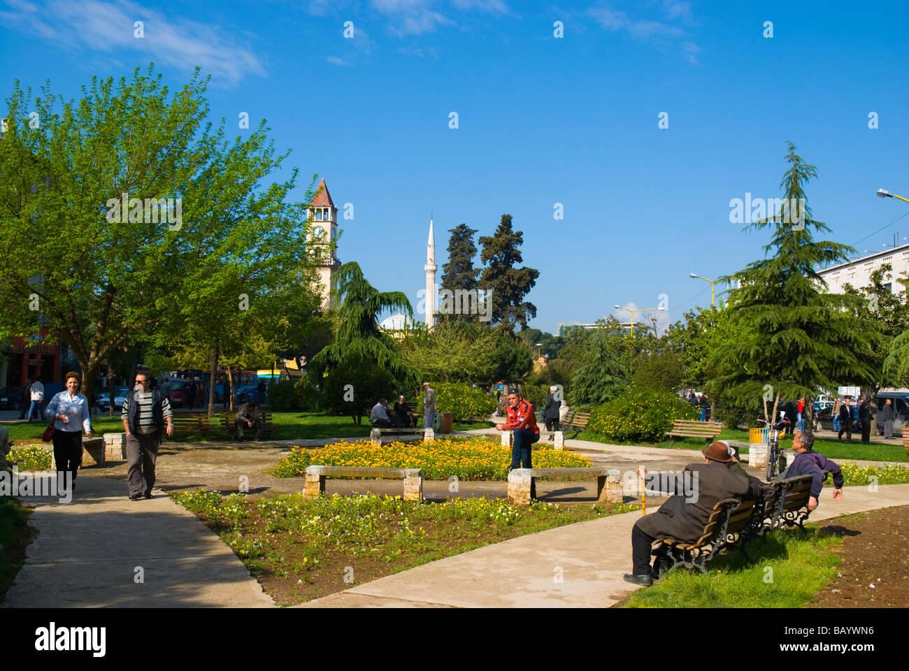 Park in central Tirana Albania Europe - Stock Image