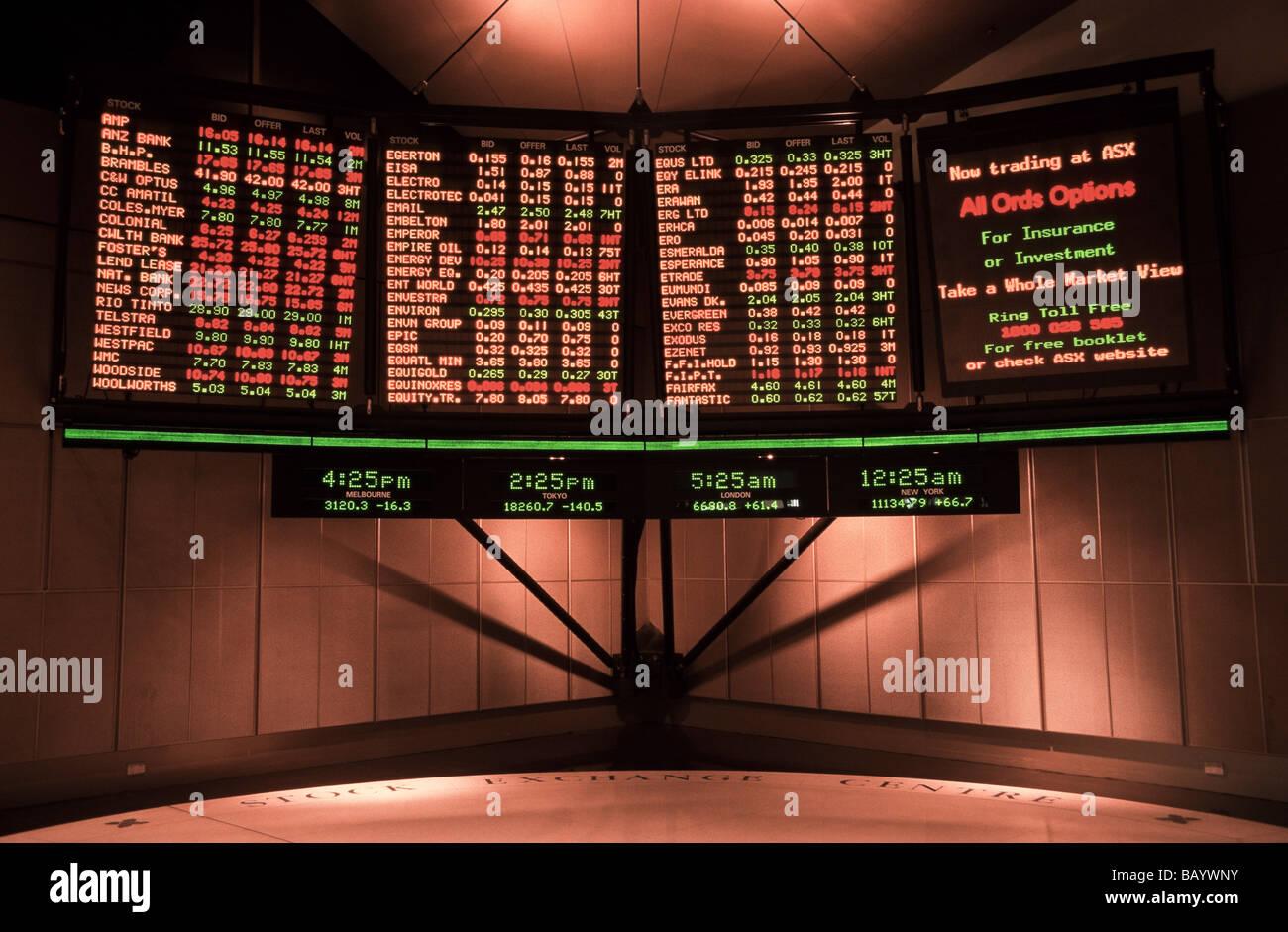 Stock market prices, Australia - Stock Image