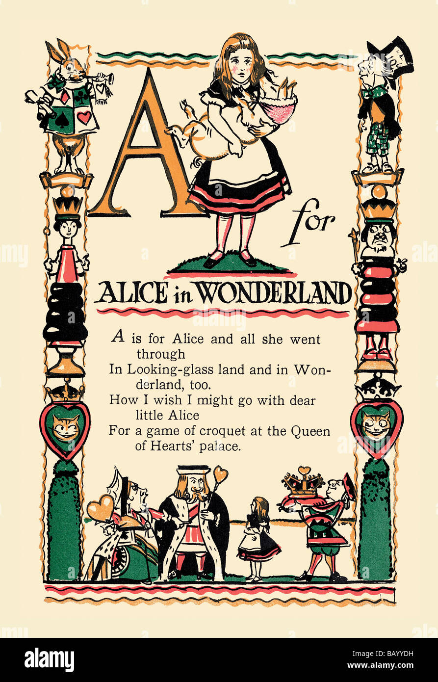 A for Alice in Wonderland - Stock Image