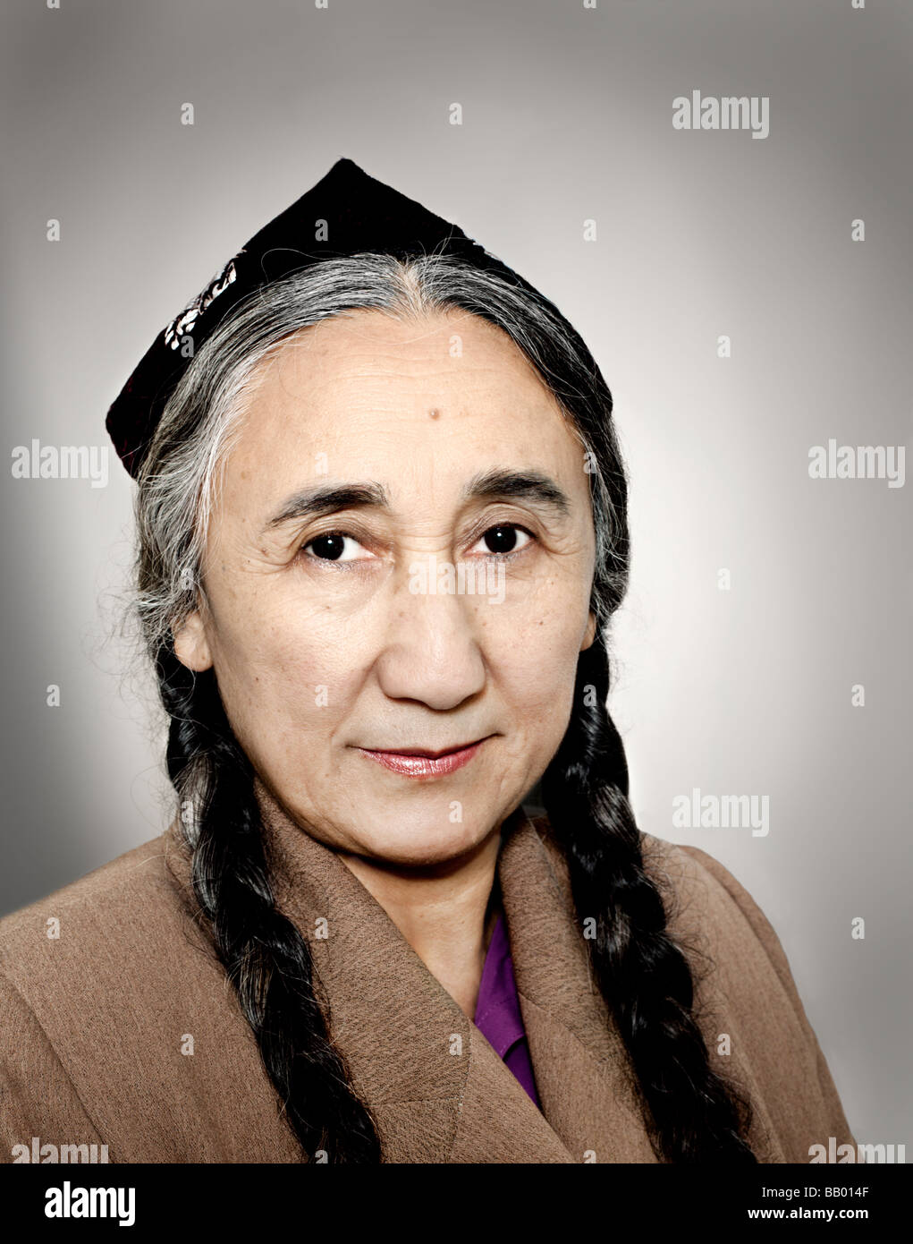 Rebiya Kadeer is a political activist and spokesperson for the Uyghur people, an oppressed Muslim minority in China. - Stock Image
