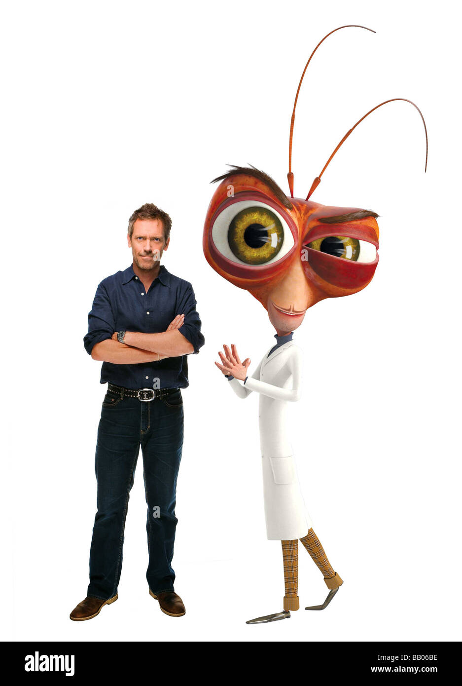 Monsters vs. Aliens Year : 2009 Directors : Rob Letterman, Conrad Vernon Hugh Laurie voice of Dr. Cockroach Ph.D. - Stock Image