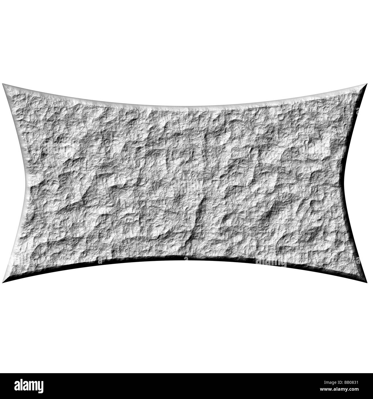 3d stone banner - Stock Image
