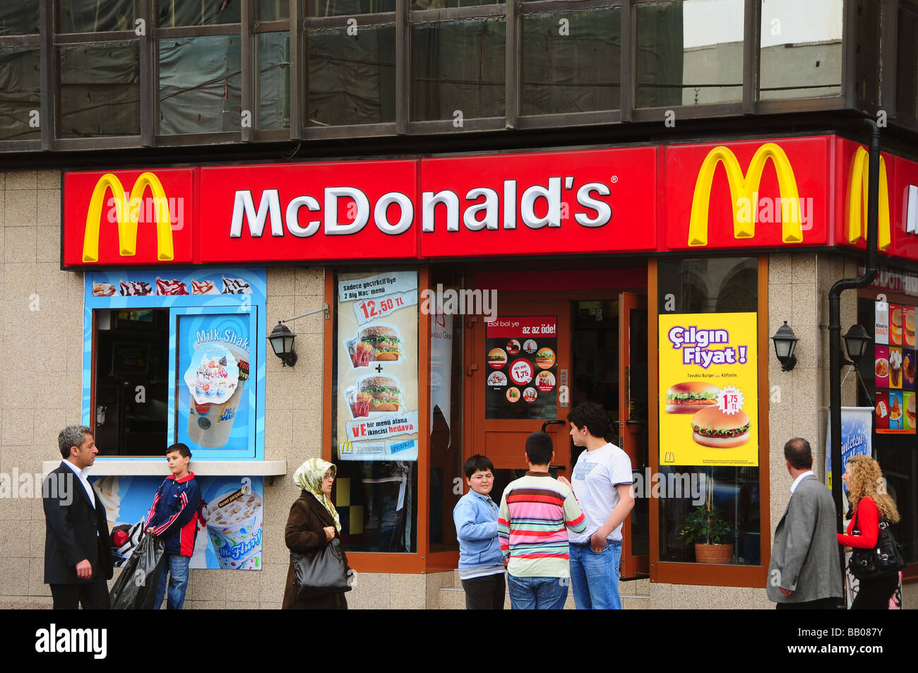 Branch of McDonalds, Istanbul, Turkey - Stock Image