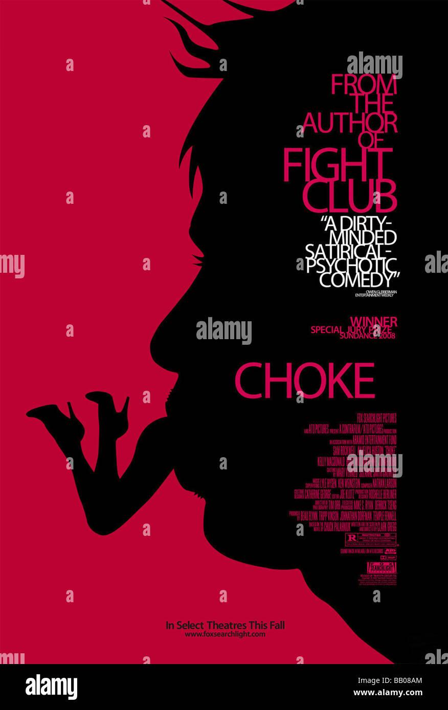 Choke Year: 2009 Director: Clark Gregg Movie Poster - Stock Image