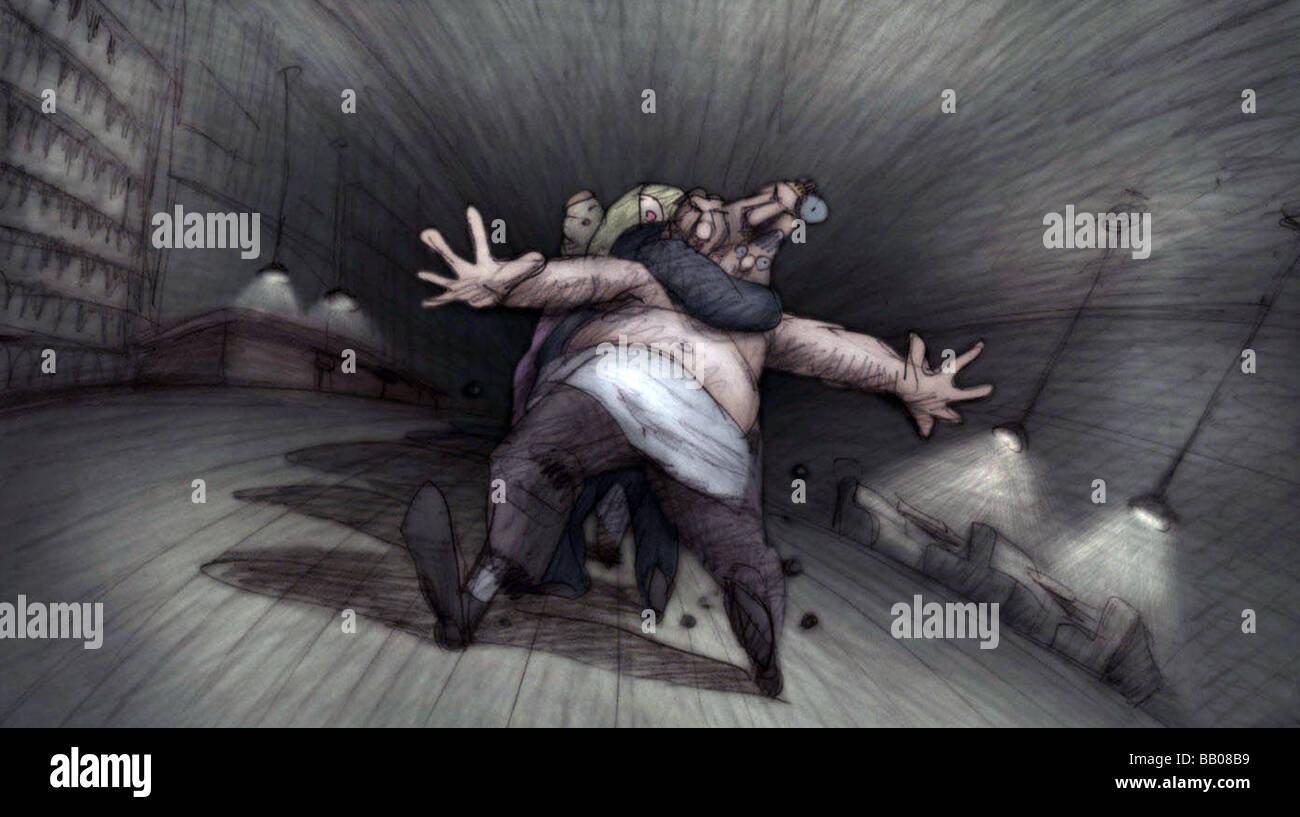 Idiots and Angels Year : 2009 Director : Bill Plympton Animation - Stock Image