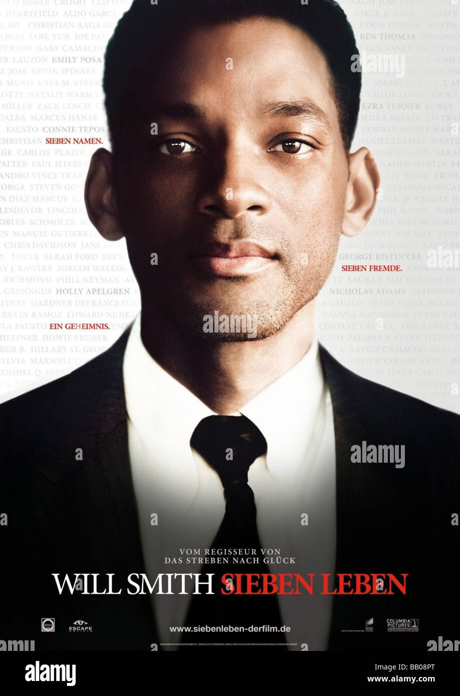 Seven Pounds Year : 2009 Director : Gabriele Muccino Will Smith,  Movie poster (Ger) - Stock Image