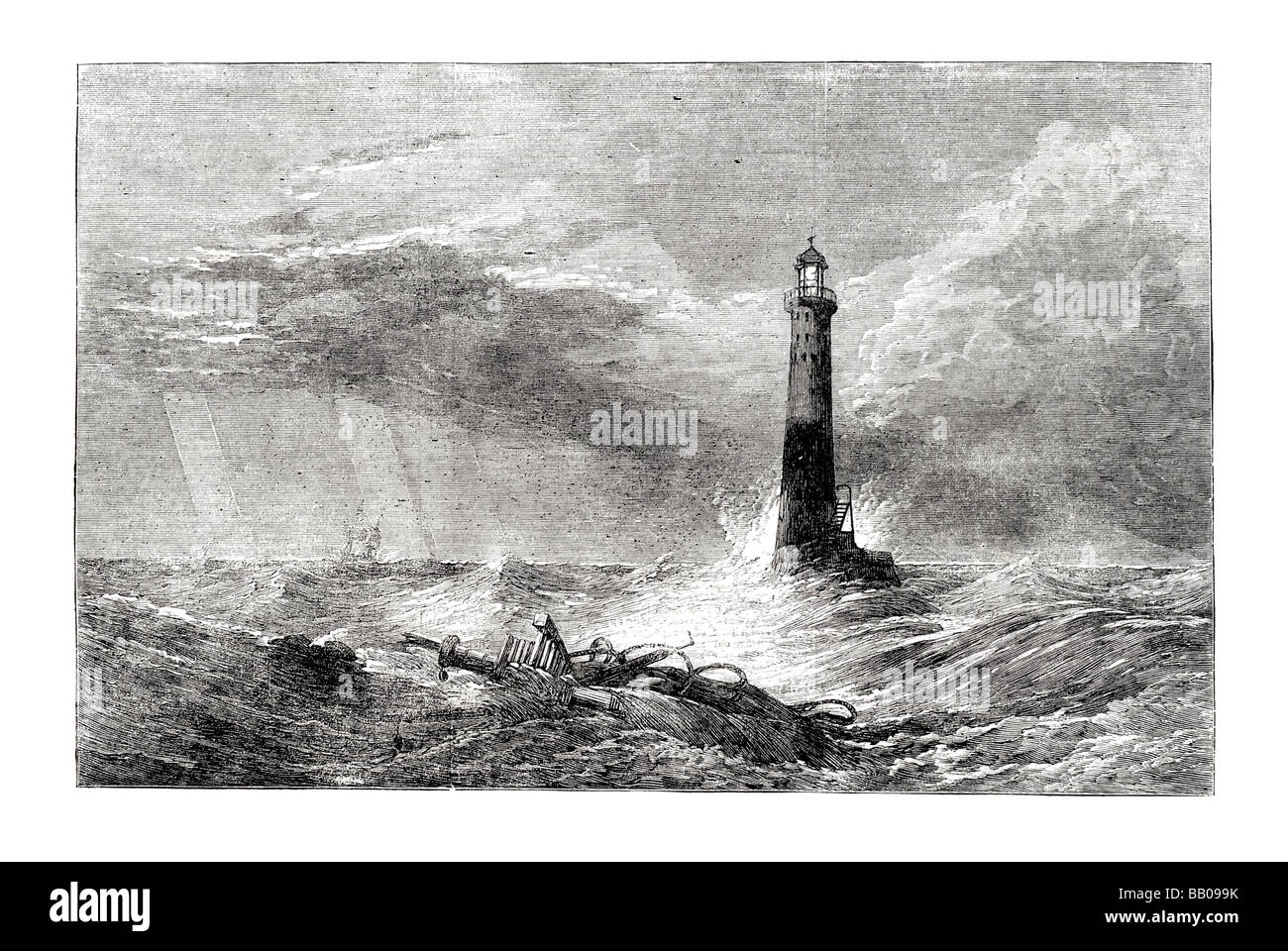 the lighthouse by clarkson stanfield r a - Stock Image