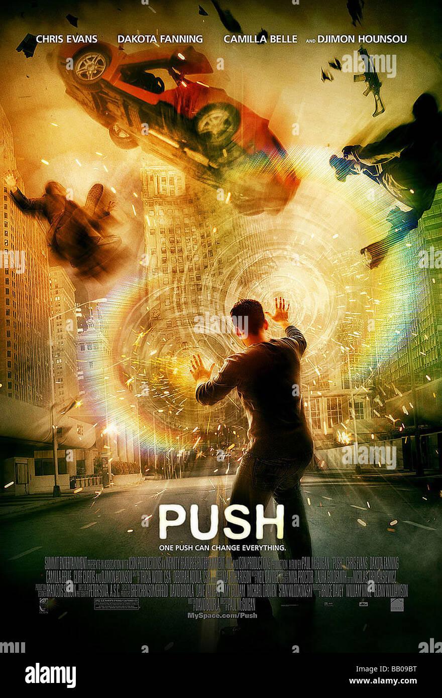 Push Year : 2009 Director : Paul McGuigan Movie poster - Stock Image