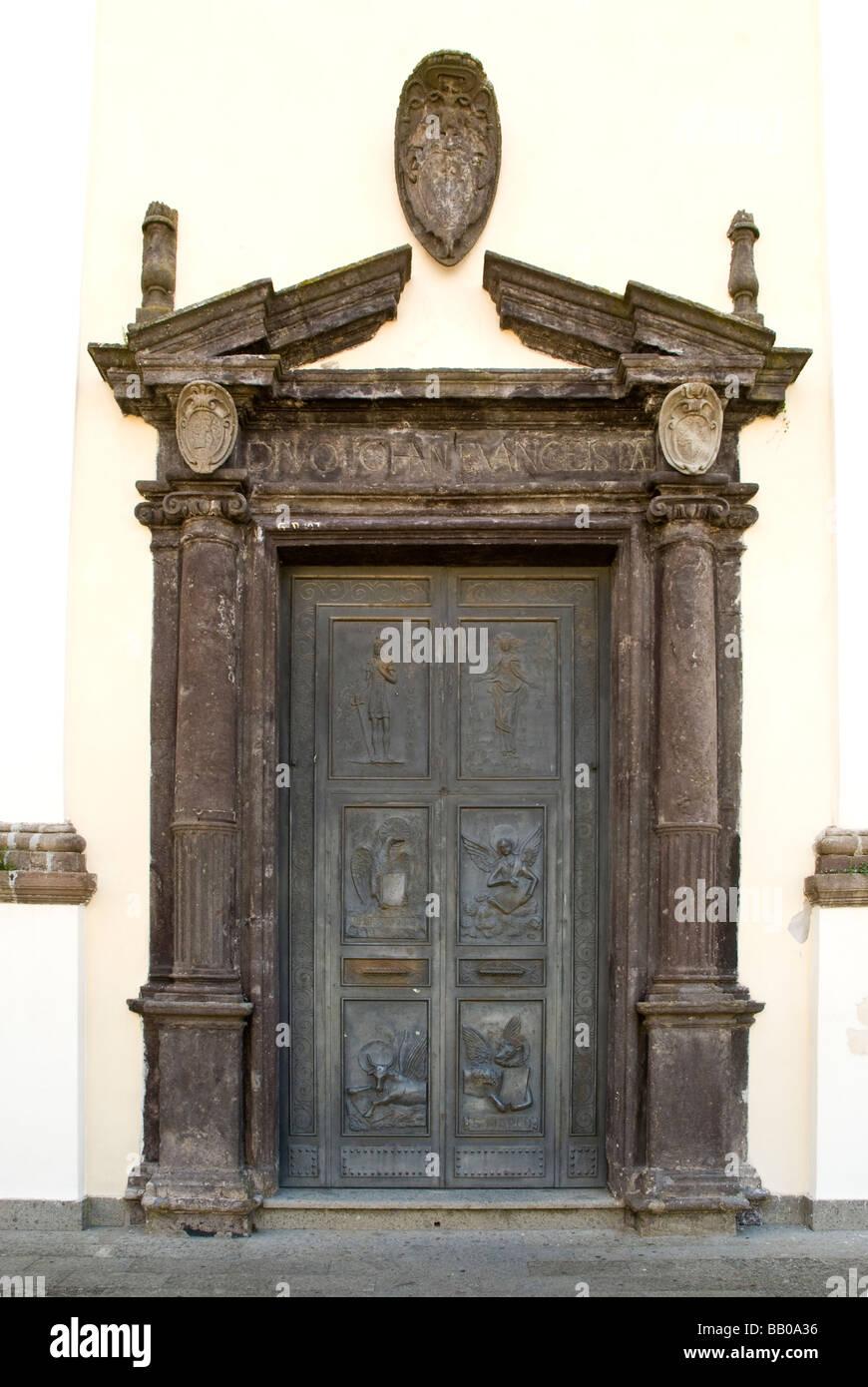 Museum of the Prehistory of Tuscia and of the Rocca Farnese at Valentano in Lazio Stock Photo