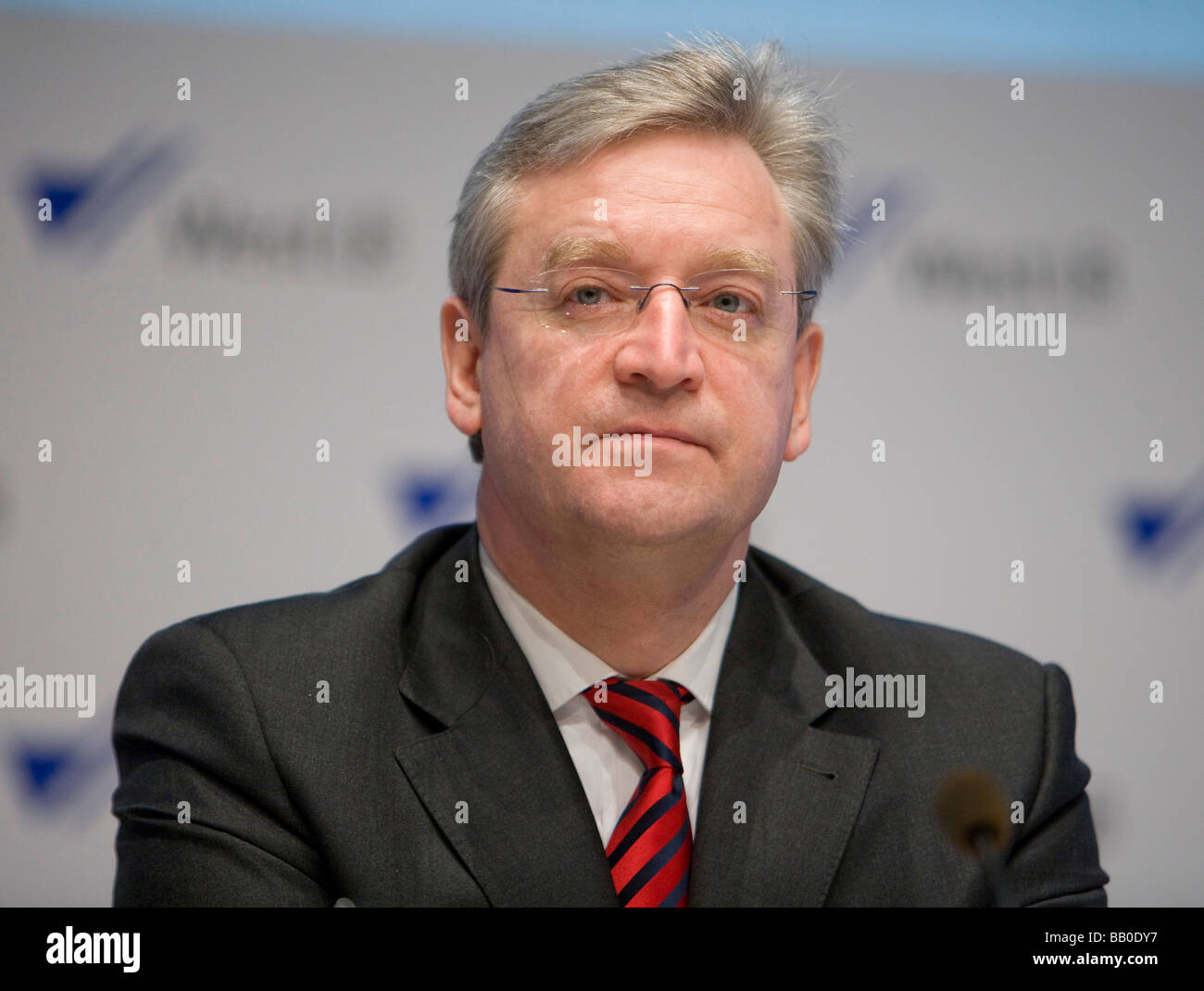 Heinz HILGERT CEO of WestLB AG At the Annual Press Conference 2009 - Stock Image