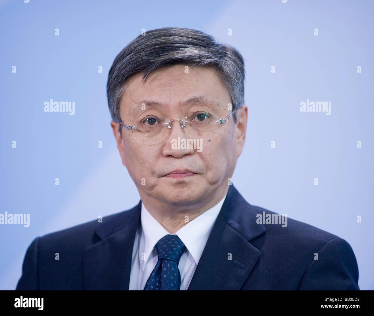 Sanjaa BAYAR Prime Minister of mongolia Berlin - Stock Image