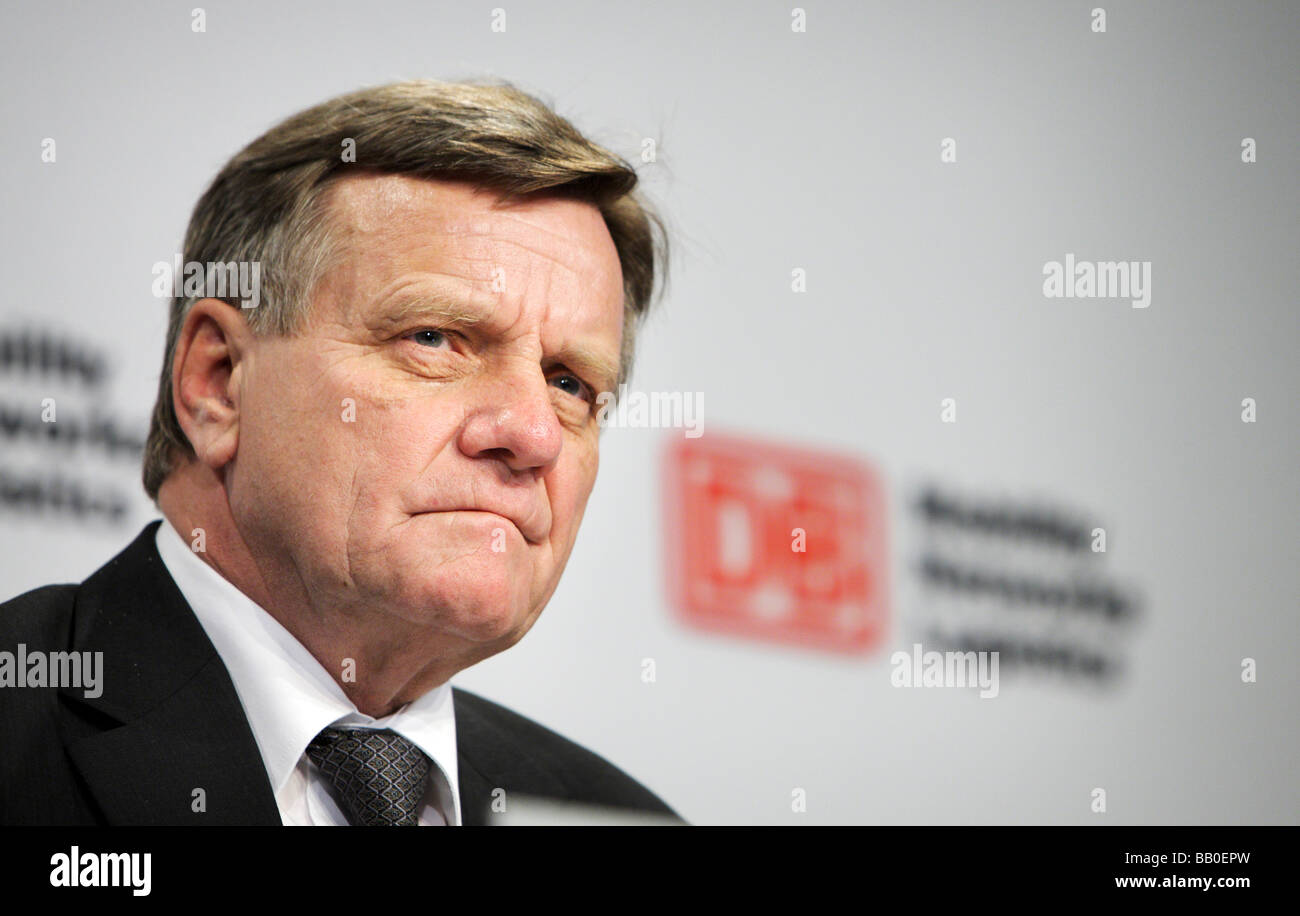 Hartmut MEHDORN CEO of Deutsche Bahn AG At the Annual Press Conference 2009 - Stock Image