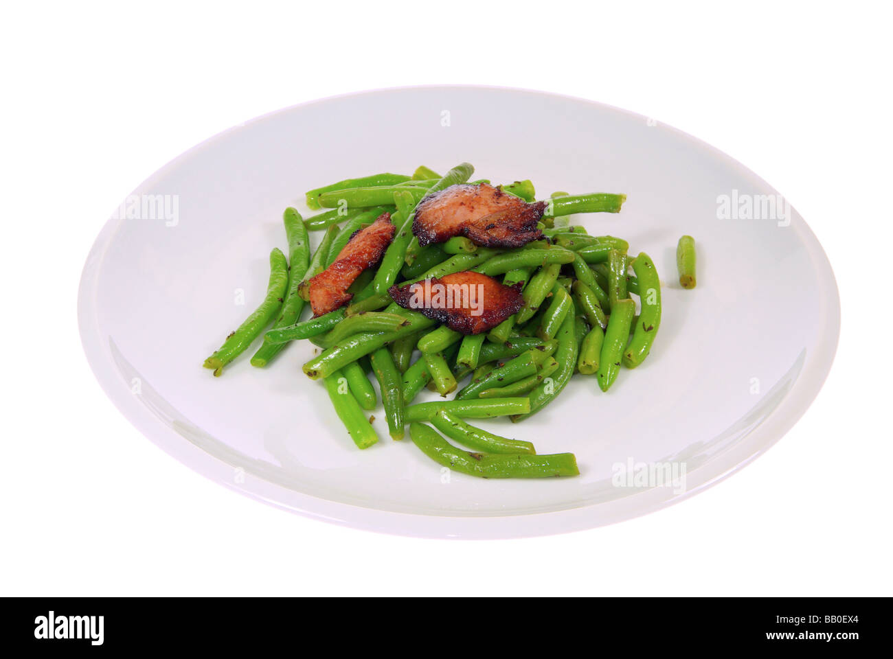 Bohnen mit Speck beans with ham 03 Stock Photo