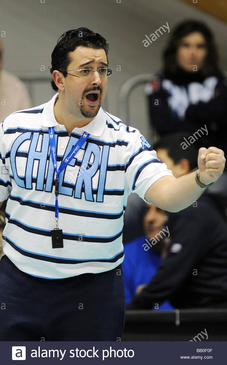 ettore guidetti trainer,torino 2009,famila chieri volley Stock Photo