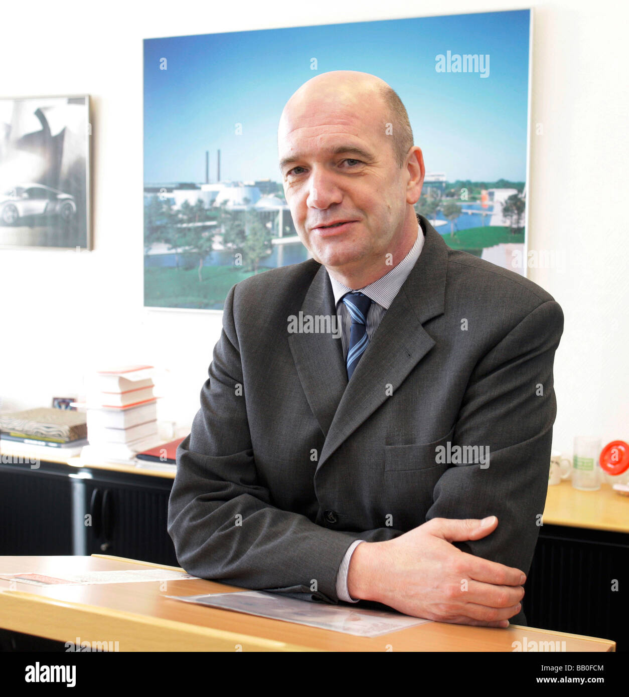 Bernd OSTERLOH Work council chairman of Volkswagen AG Wolfsburg - Stock Image