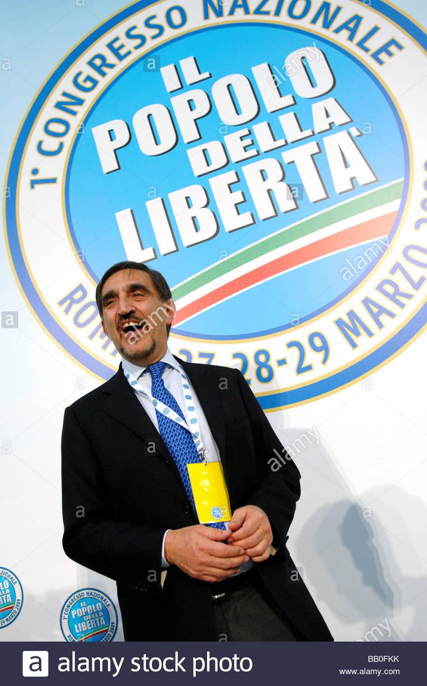 ignazio la russa,roma 2009,first popolo della libertà party meeting - Stock Image