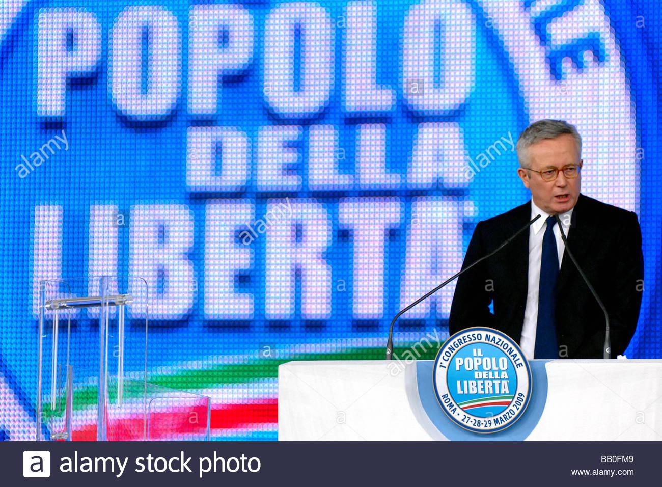 giulio tremonti,roma 2009,first popolo della libertà party meeting - Stock Image
