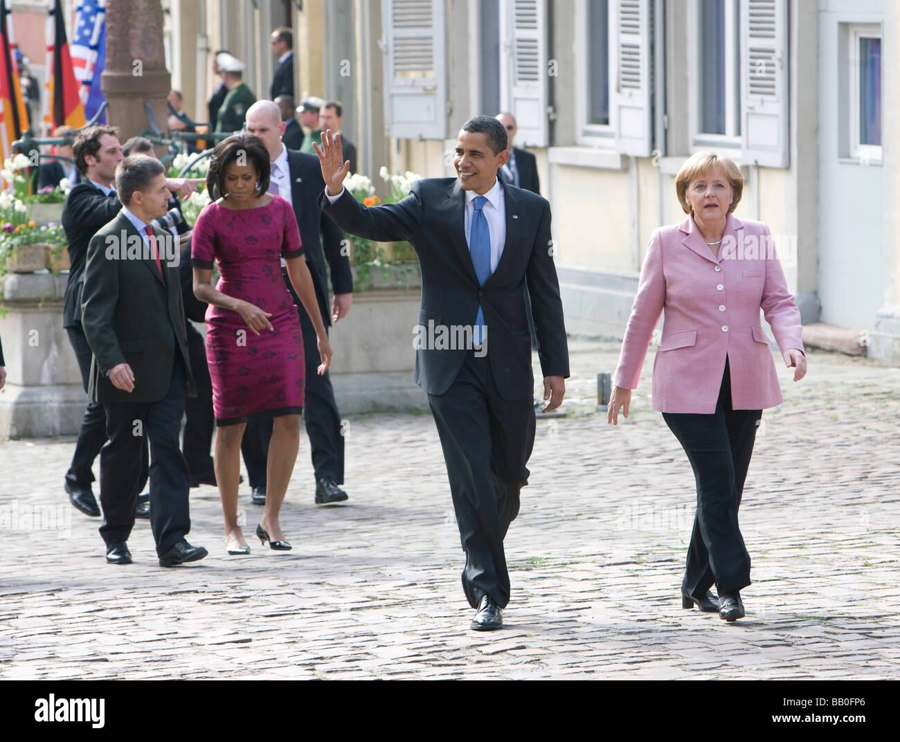 Angela MERKEL CDU Federal Chancellor of Germany and Chairman of the Christian Democratic Union CDU Barack OBAMA - Stock Image