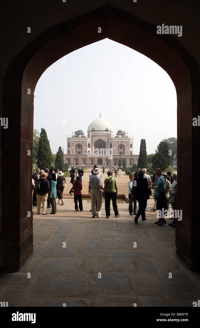 Humayun s Tomb New Delhi India - Stock Image