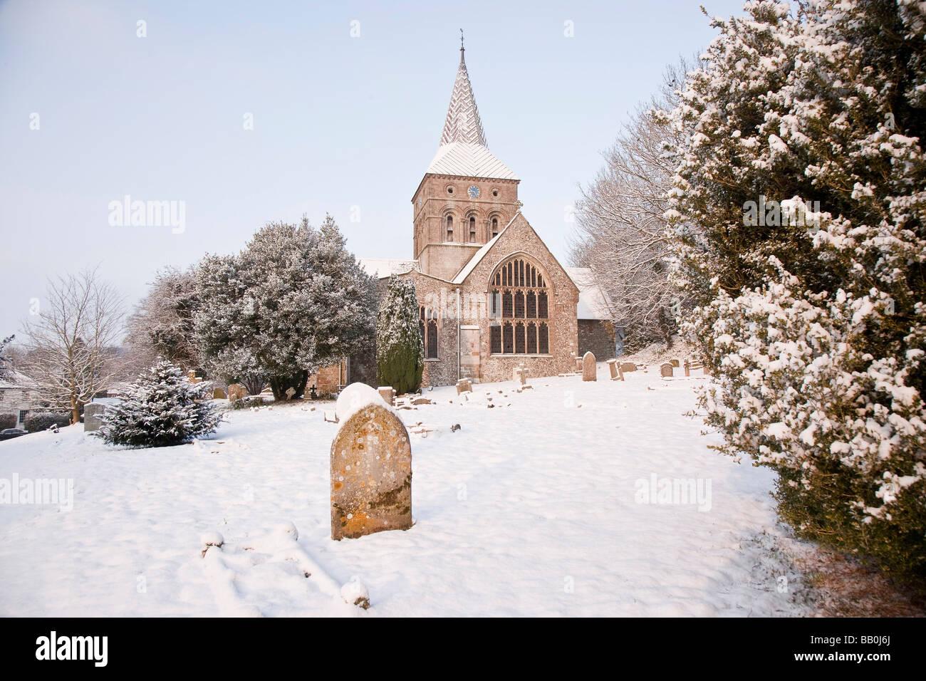 All Saints Church, East Meon, Hampshire - Stock Image