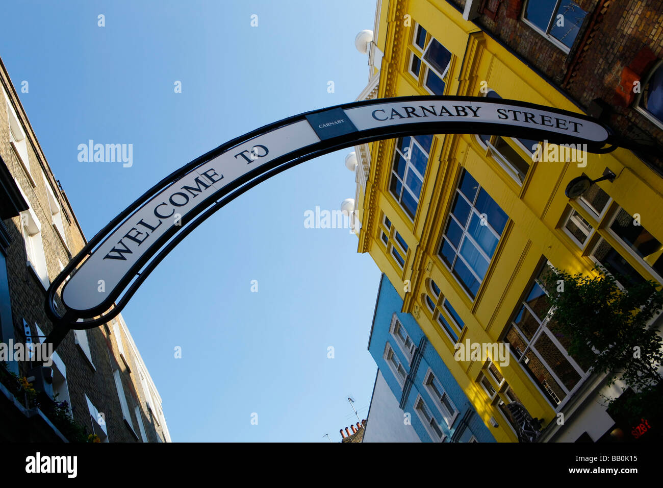 Carnaby Street in London. - Stock Image