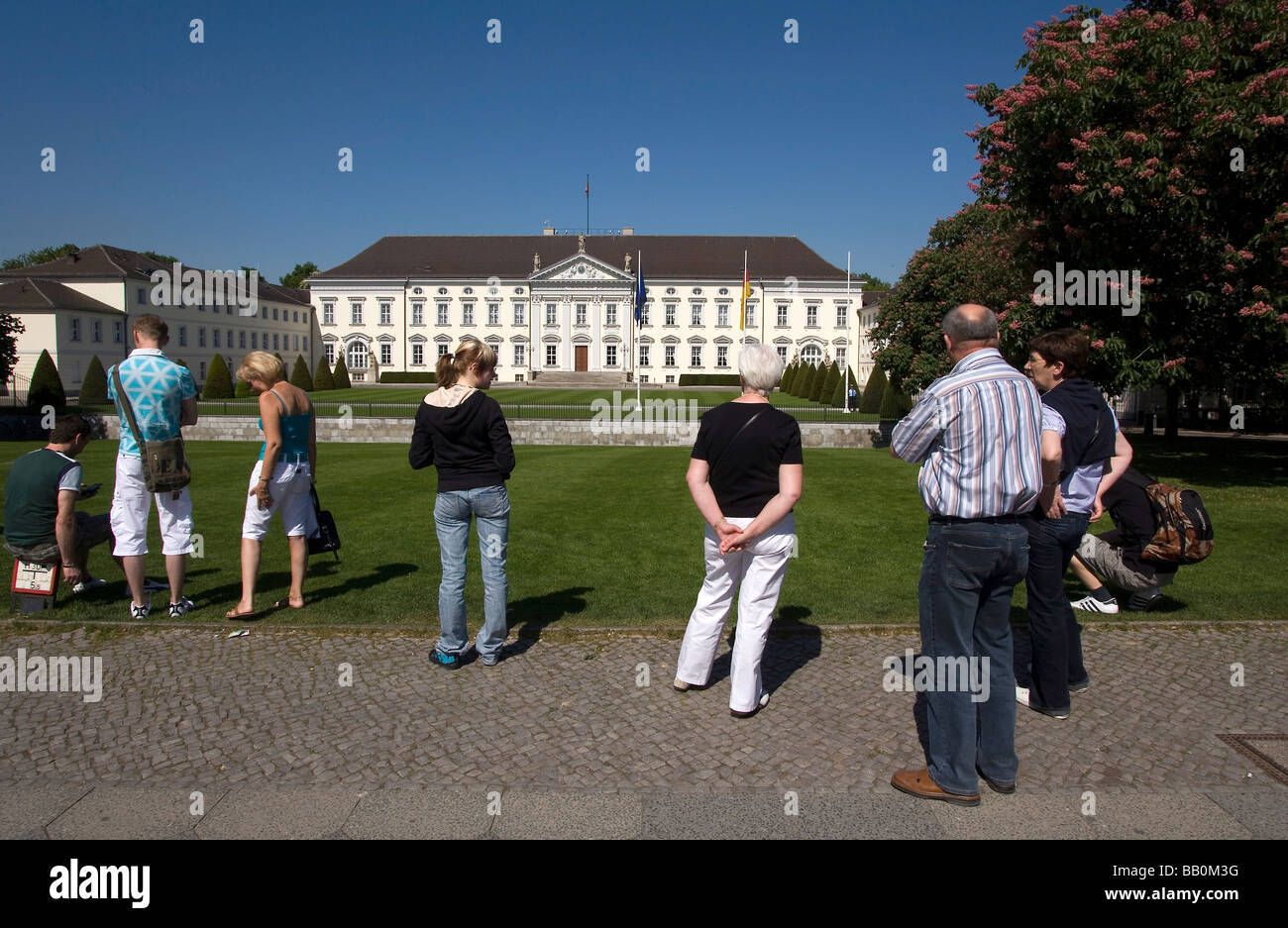 Schloss Palace Bellevue residence of the German Federal President - Stock Image