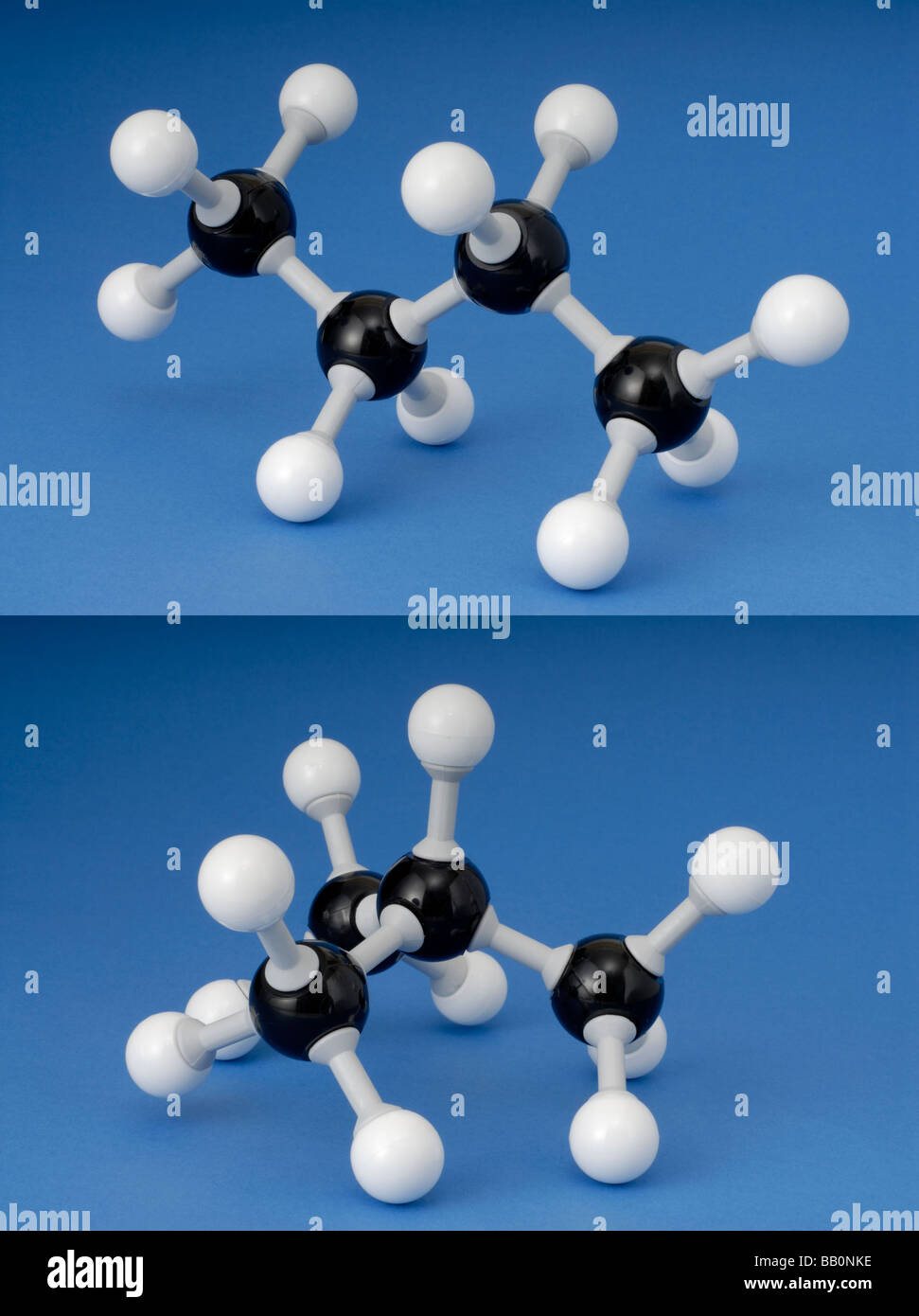 isomers of butane - Stock Image
