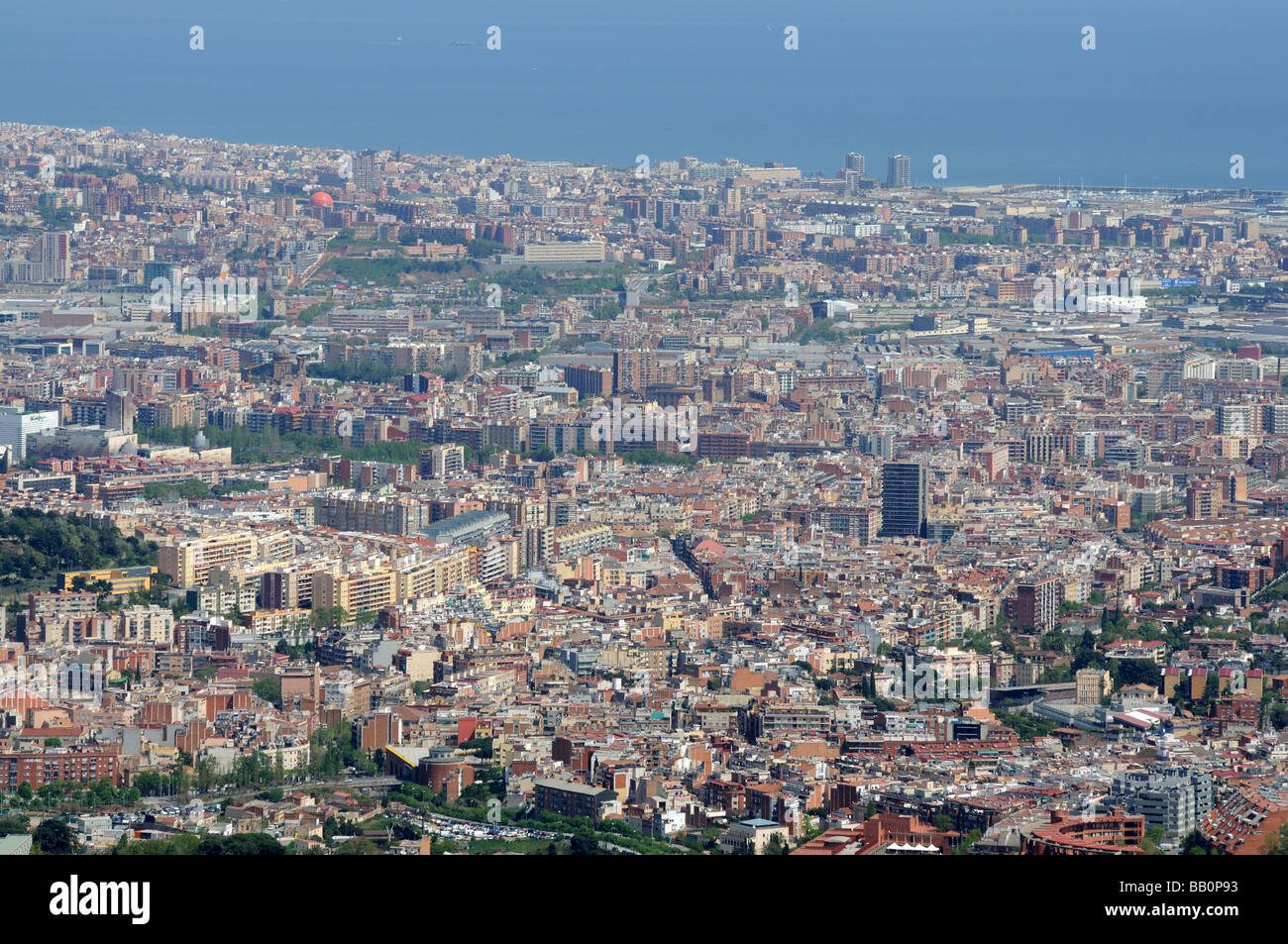 Aerial View Of Barcelona Spain Stock Photo 23989087 Alamy