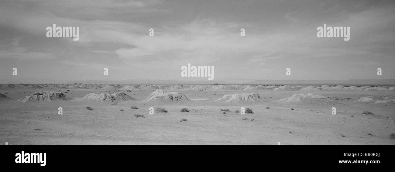 Vent holes in the desert - Stock Image