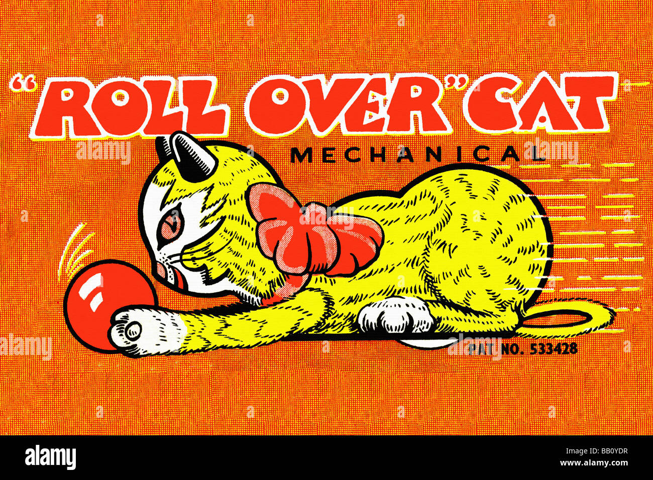 Roll Over Cat Stock Photo