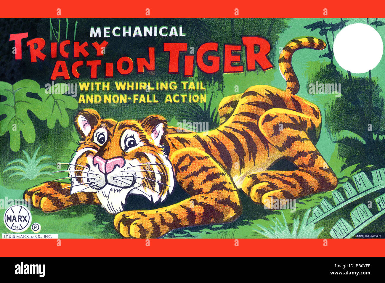 Tricky Action Tiger - Stock Image