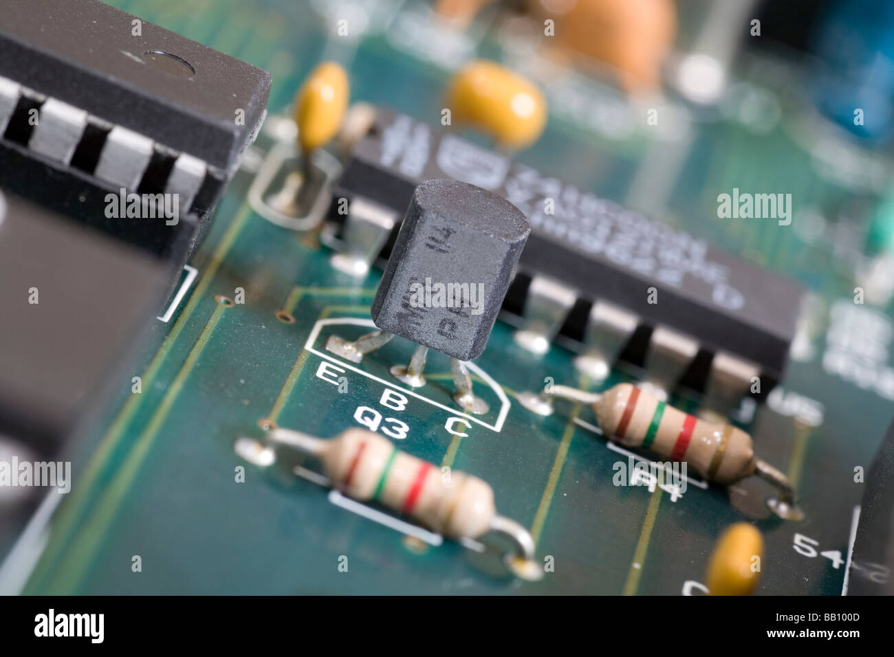 Transistor On An Electronic Circuit Board Stock Photo 23993549 Alamy Use Of In A