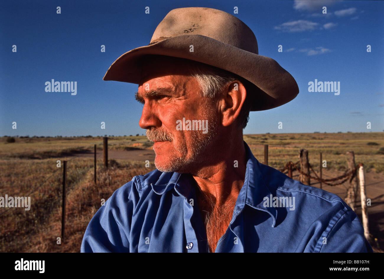 Stockman outback Australia - Stock Image
