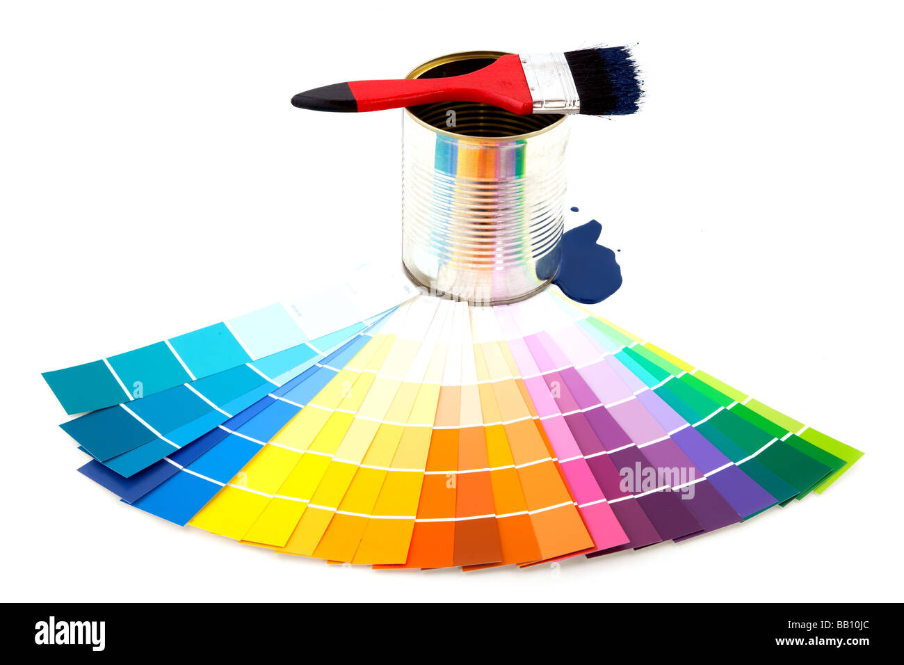 painting with colors in spring - Stock Image