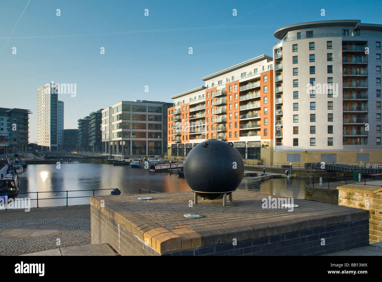 Clarence Dock, a new development in Leeds, West Yorkshire, England UK Stock Photo