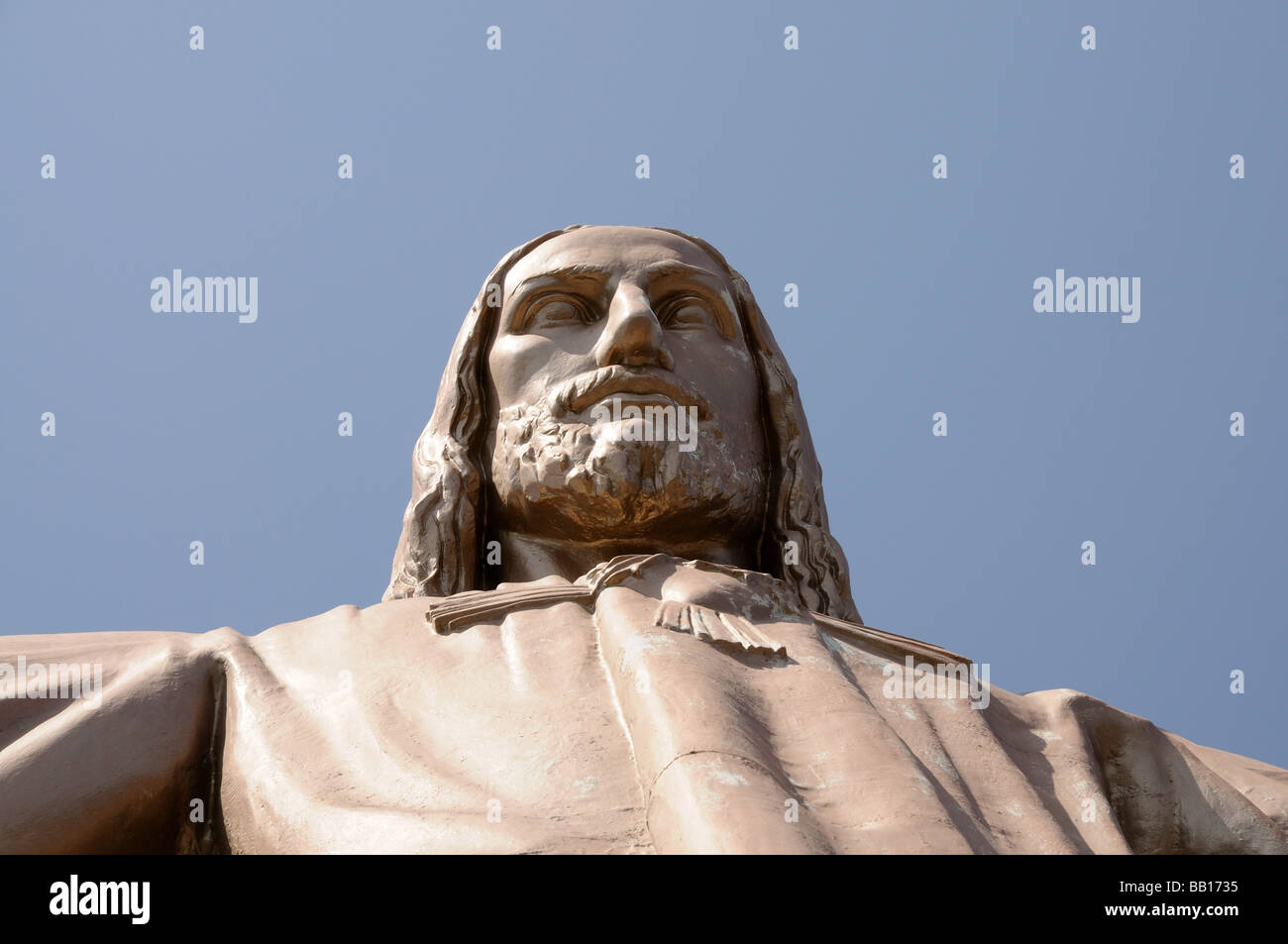 Jesus Christus Statue at Temple del Sagrad Cor in Barcelona, Spain - Stock Image