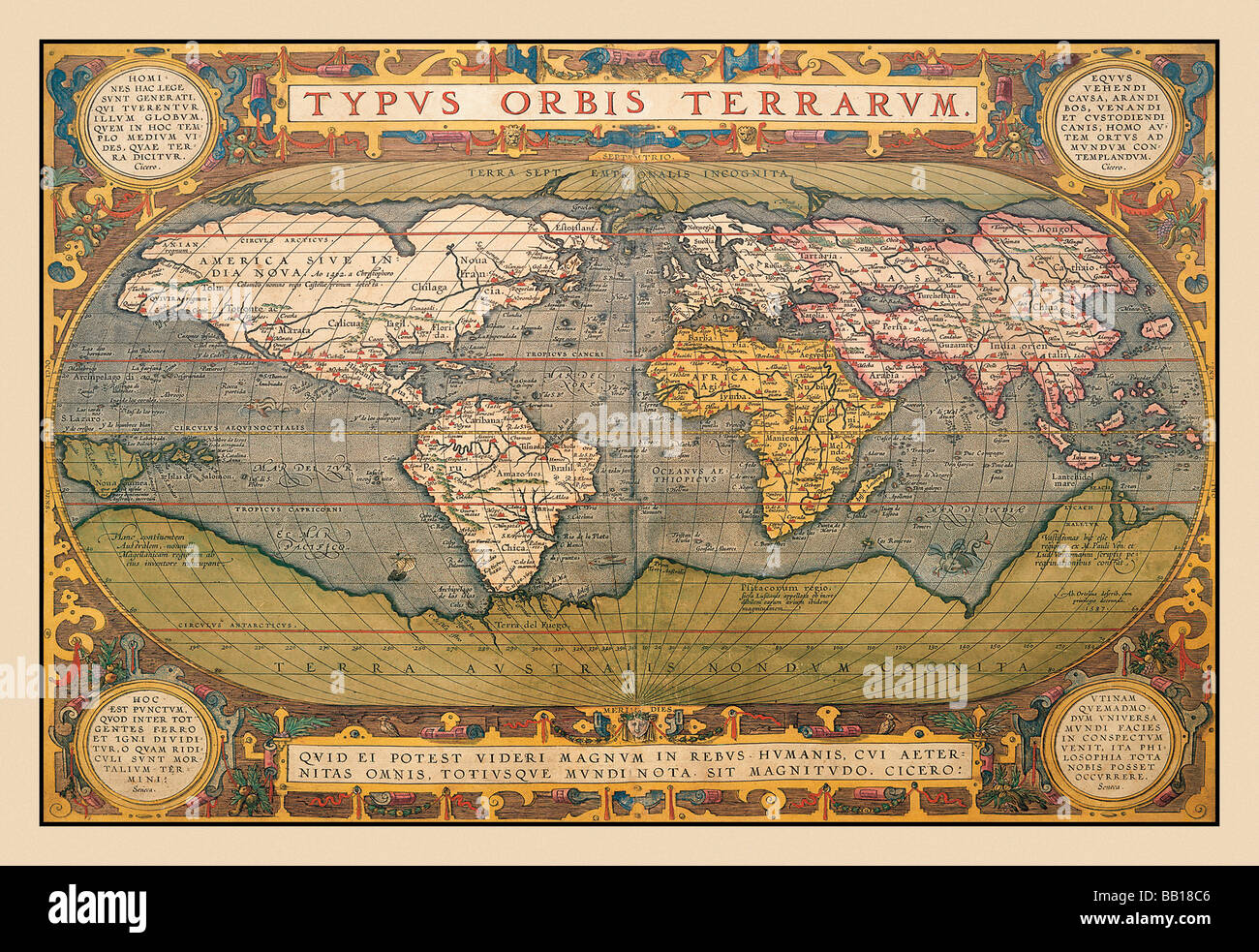 Medieval World Map Stock Photos Medieval World Map Stock Images
