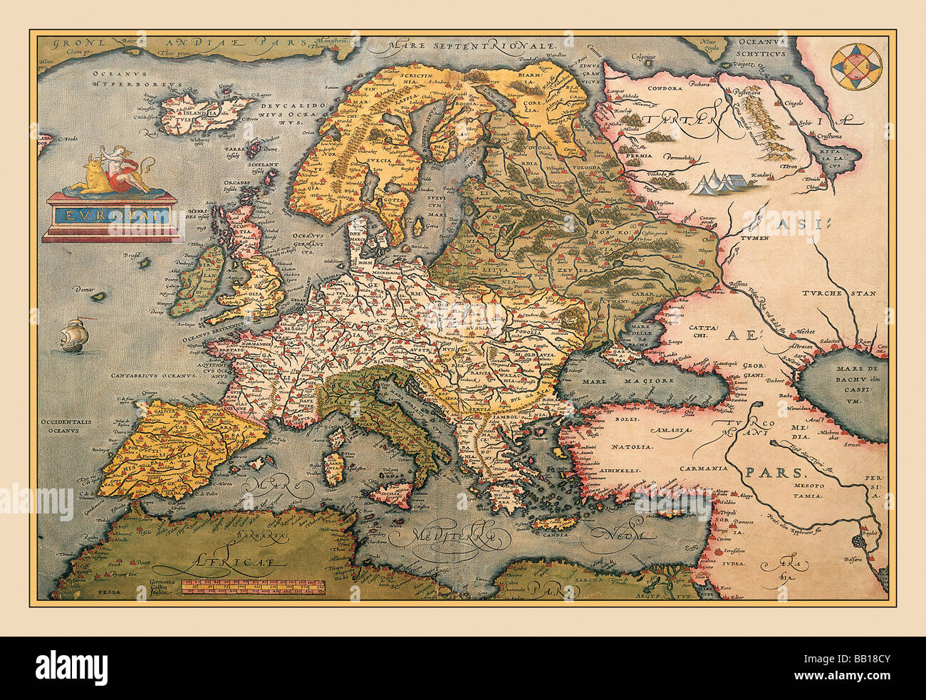 Medieval Map Of Europe And Asia.Medieval Europe Map Stock Photos Medieval Europe Map Stock
