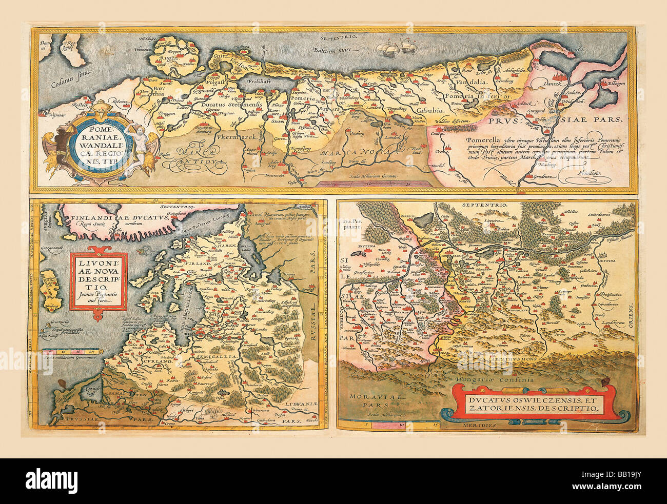 Maps Of Eastern Europe And Russia Stock Photo Alamy