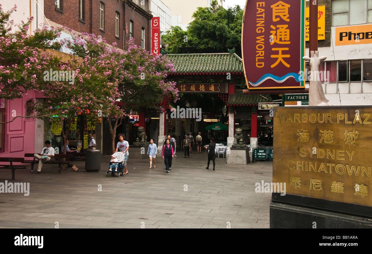 Chinatown near Darling Harbour Sydney Australia - Stock Image