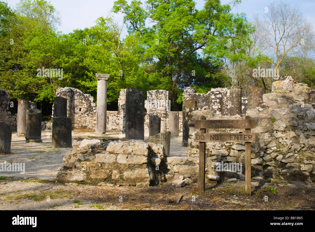 Ruins of the Baptistery in ancient Butrint Albania Europe - Stock Image